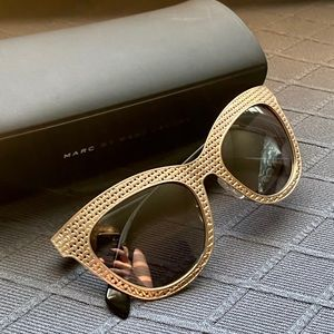 Marc Jacobs Gold Woven Sunglasses
